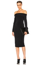 Alexander Wang T By Off The Shoulder Long Sleeve Dress In Black