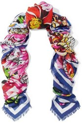 Mary Katrantzou Woman Paint By Numbers Printed Modal And Cashmere Blend Twill Scarf Multicolor
