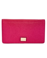 Tignanello Embossed Stingray Clutch Crossbody Raspberry