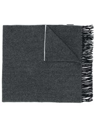 Canada Goose Fringed Knitted Scarf Black