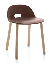 Emeco Alfi Low Back Chair Brown