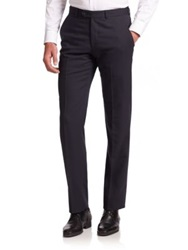 Armani Collezioni Wool Blend Dress Pants Sea Blue