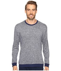 Kenneth Cole Reaction Sleep Crew Long Sleeve Navy Marled Men's Pajama