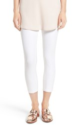 Hue Women's Denim Capris White
