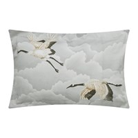 Harlequin Cranes In Flight Oxford Pillowcase Silver