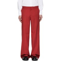 Yang Li Red Low Rise Wide Trousers