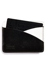 Men's Miansai Leather Card Holder Black Black White