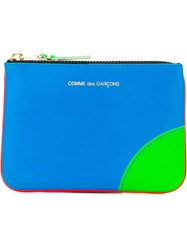 Comme Des Gara Ons Wallet 'Super Fluo' Pouch Purse Yellow And Orange