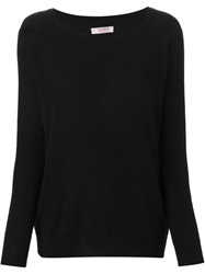 Liska Crew Neck Sweater Black