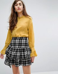 Sister Jane Shirt With Pleated Back Yellow