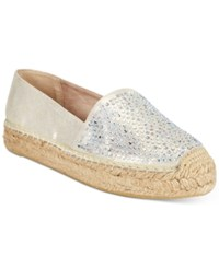 White Mountain Harmonize Espadrille Platform Flats Women's Shoes Gold
