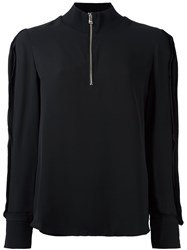 3.1 Phillip Lim High Collar Blouse Black