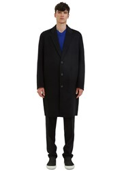 Acne Studios Charles Long Single Breasted Wool Coat Black