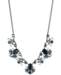 Givenchy Clear And Color Crystal Statement Necklace Gray