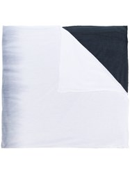 Unconditional Horizontal Dip Dye Scarf White