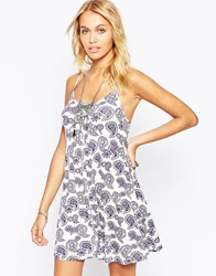 Asos Cami Swing Dress In Paisley Print