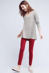 Anthropologie Citizens Of Humanity Rocket High Rise Velour Skinny Jeans Wine