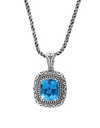 Effy Blue Topaz And Sterling Silver Pendant Necklace