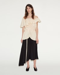 Christophe Lemaire Gathered Skirt Black