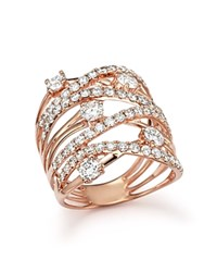 Bloomingdale's Diamond Statement Ring In 14K Rose Gold 2.25 Ct. T.W.