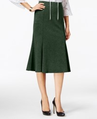 Ny Collection Ponte A Line Skirt Pine Grove