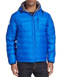 Canada Goose Lodge Hooded Down Jacket Royal Pbi Blue