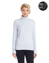 Lord And Taylor Turtleneck Top Faded Blue Heather