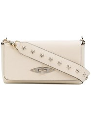 Red Valentino Star Studded Clutch Women Leather One Size Nude Neutrals