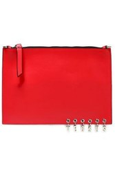 Versus By Versace Leather Clutch Red