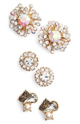Natasha Couture Women's Set Of 3 Stud Earrings