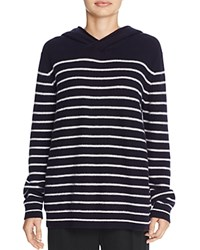 Vince Breton Stripe Hooded Cashmere Sweater Coastal