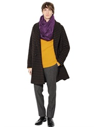 Mp Massimo Piombo Faded Houndstooth Alpaca Blend Coat
