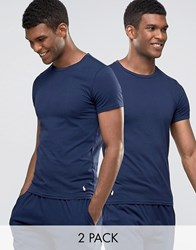 Polo Ralph Lauren T Shirt In 2 Pack Slim Fit Navy