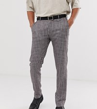Heart And Dagger Checked Trouser In Grey