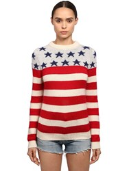 Saint Laurent Wool And Mohair Usa Sweater Multicolor