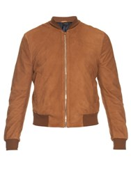 Paul Smith Suede Bomber Jacket Tan