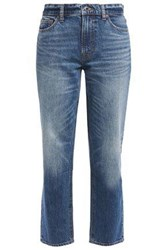 Vince. Woman Cropped Mid Rise Slim Leg Jeans Mid Denim