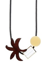 Marni Women's Palm Genuine Horn And Resin Necklace