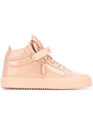 Giuseppe Zanotti Design 'London' Mid Top Sneakers Pink And Purple