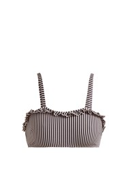 Solid And Striped The Leslie Ruffle Trimmed Bikini Top Navy