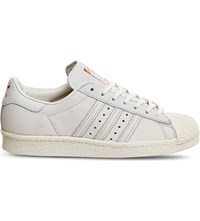 Adidas Superstar 80S Leather Trainers Chalk White Copper