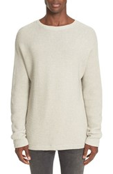 Saturdays Surf Nyc Men's Rib Knit Pullover Ivory