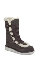 Timberland Women's Kenniston Faux Fur Water Resistant Mukluk Boot Dark Grey Suede
