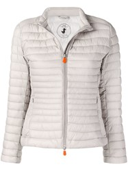 Save The Duck Padded Zip Jacket Neutrals