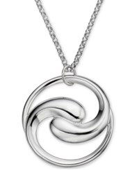 Nambe Dharma Pendant Necklace In Sterling Silver