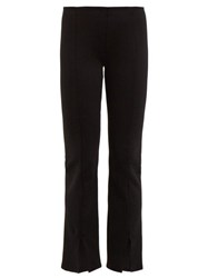 The Row Thilde Mid Rise Slit Cuff Trousers Black