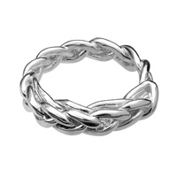 Ali Grace Jewelry Sterling Silver Braided Ring