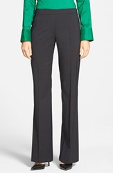 Women's Boss 'Tulea' Mini Check Side Zip Stretch Wool Trousers