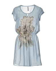 Pepe Jeans Short Dresses Sky Blue