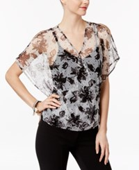 Inc International Concepts Floral Print Mesh Top Only At Macy's Ditzy Dot